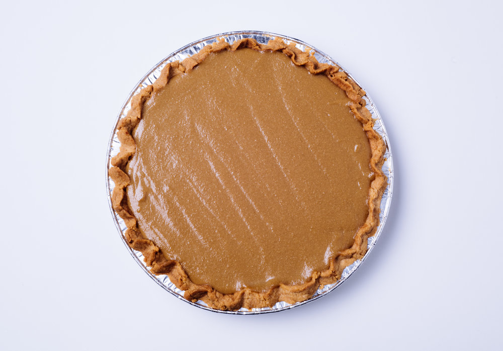 Butterscotch Pie with Sweet Dough