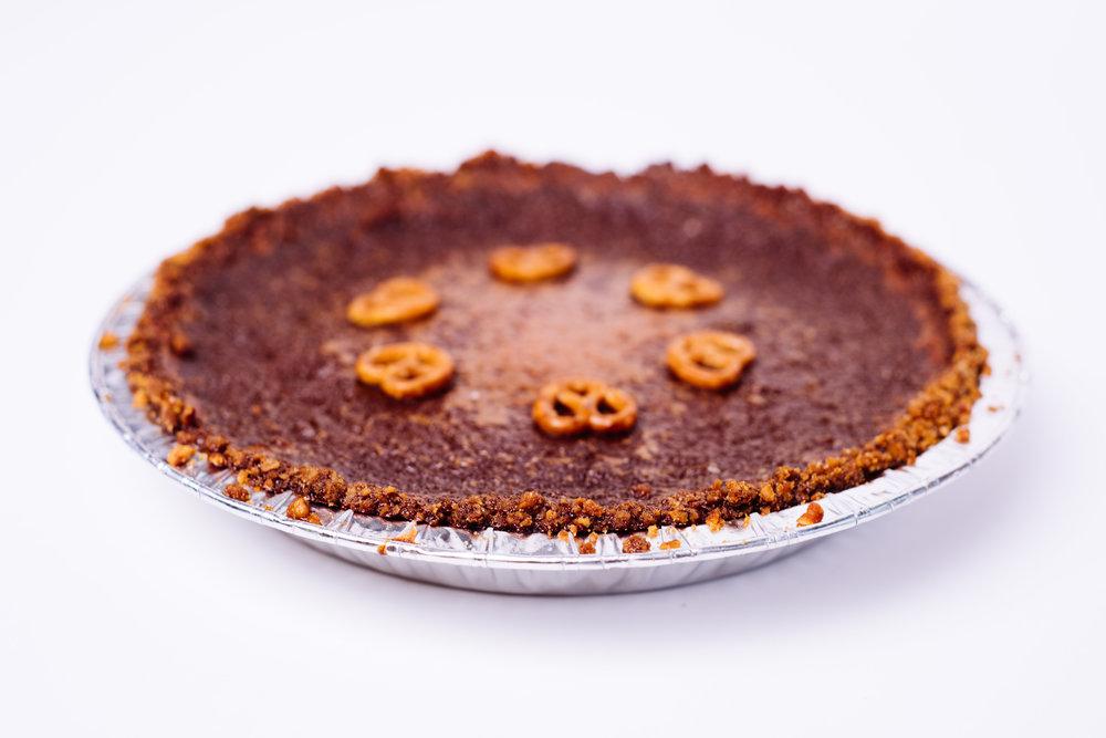 Salted Caramel Custard Pie