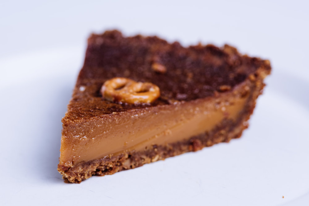 Salted Caramel Custard Pie Slice
