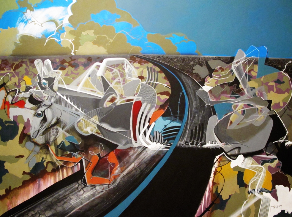 My Wonderland, mixed media on canvas, 2013, 200x150cm, SOLD