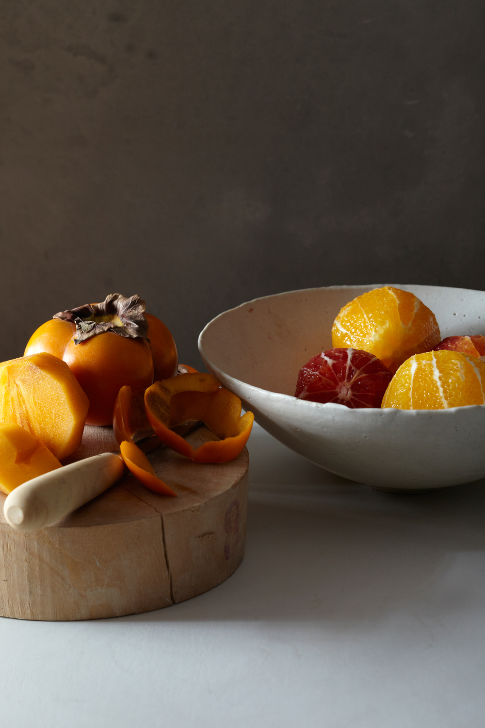 blood orange and persimmon