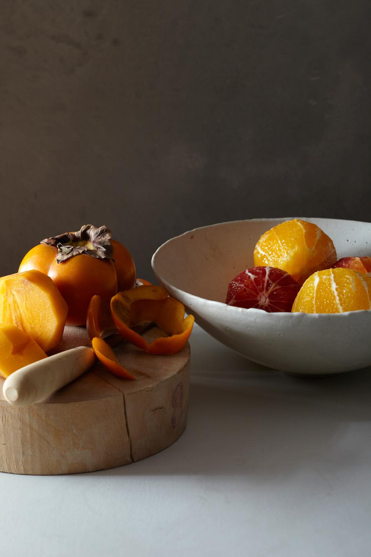 blood orange and persimmon