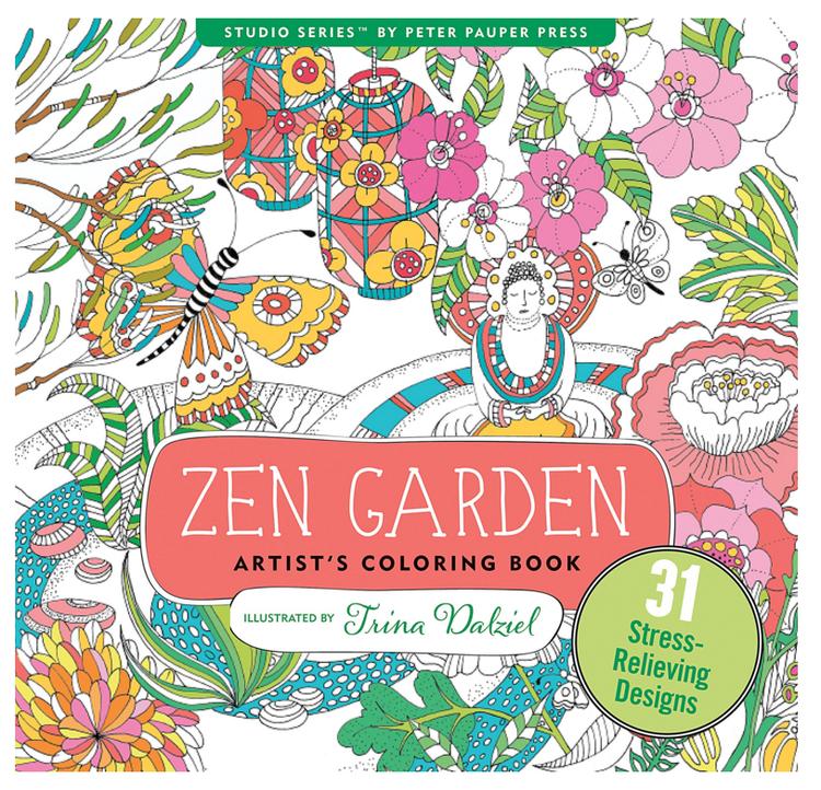 Zen Garden Colouring Book For Adults