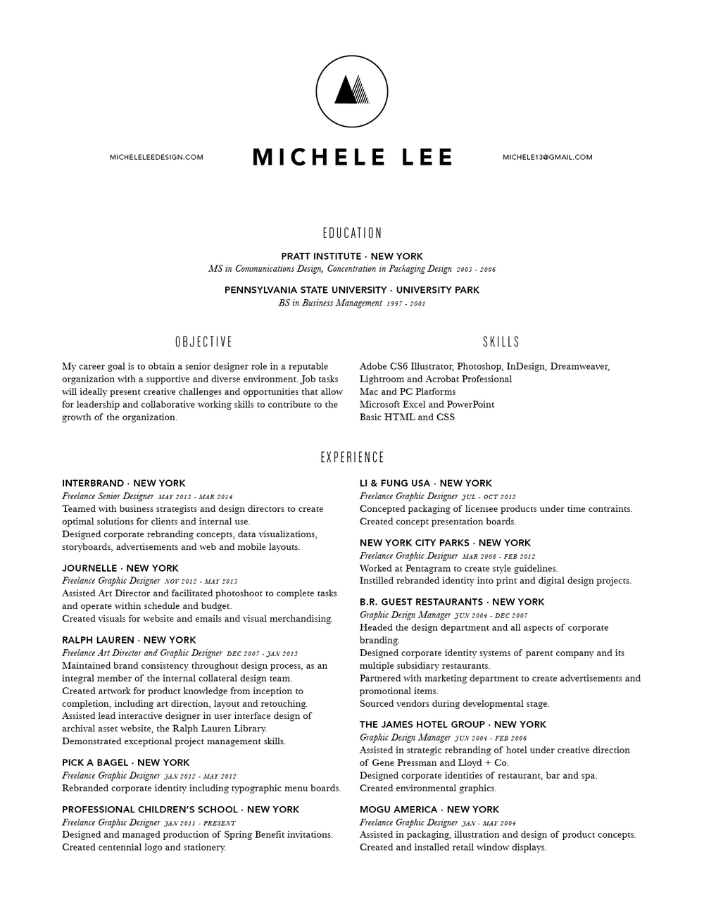 Resume — Michele Lee