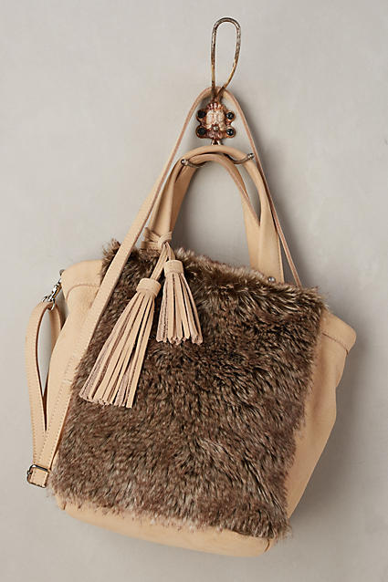 Faux-fur tote- Anthropologie