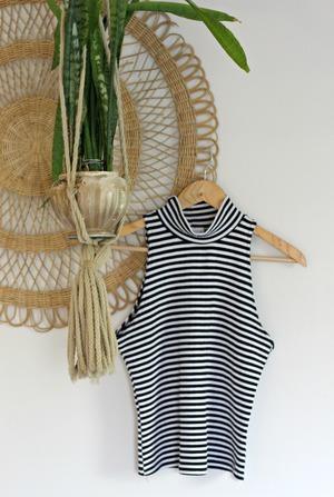 Striped Mock Top $12