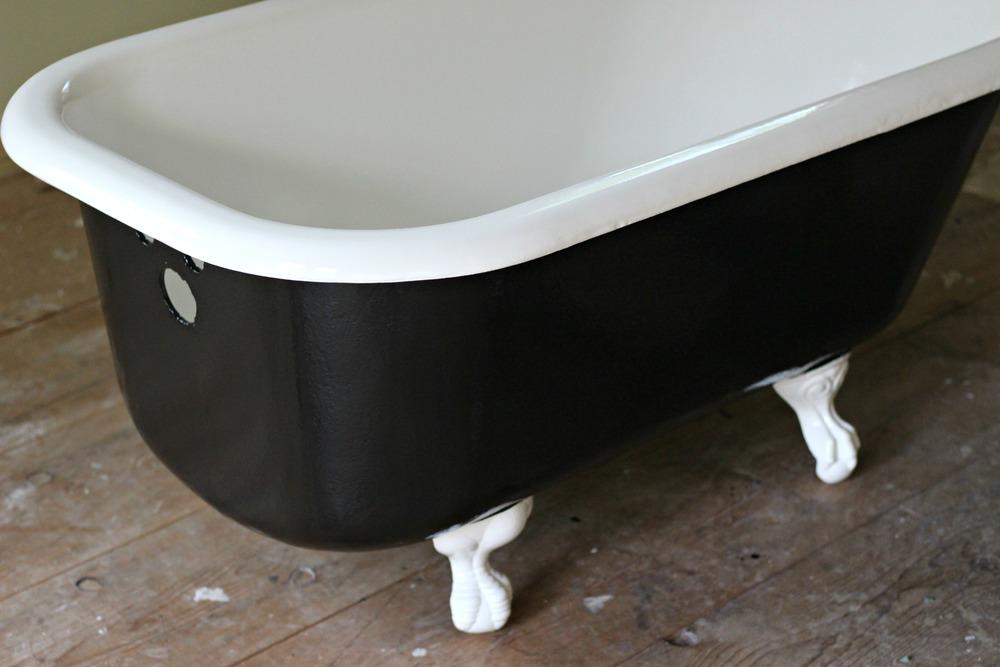 Clawfoot tub after reglazing