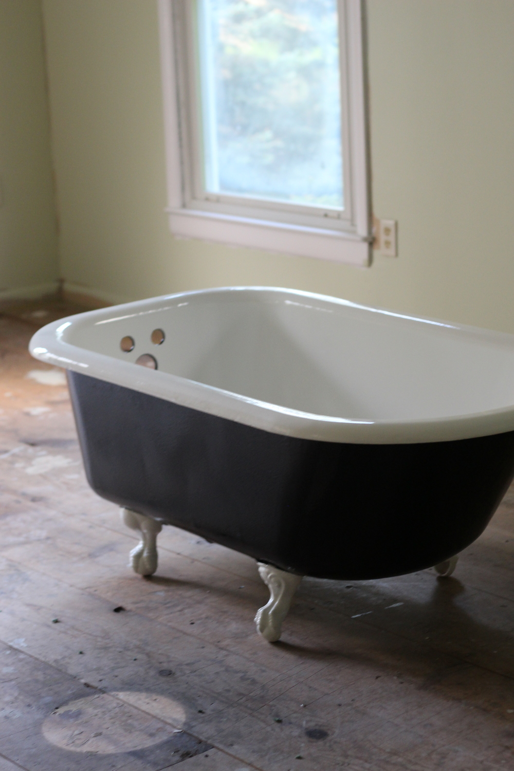 Clawfoot tub after reglazing