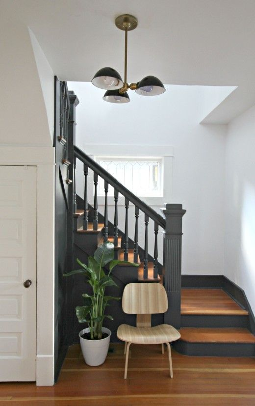 The Color I Have Chosen For Trim Is Sherwin Williams Iron Ore And Walls Will Be Pure White Just Cant Wait To See How