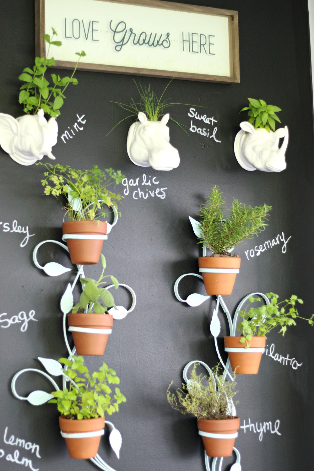 Our Fixer Upper: Indoor Vertical Herb Garden