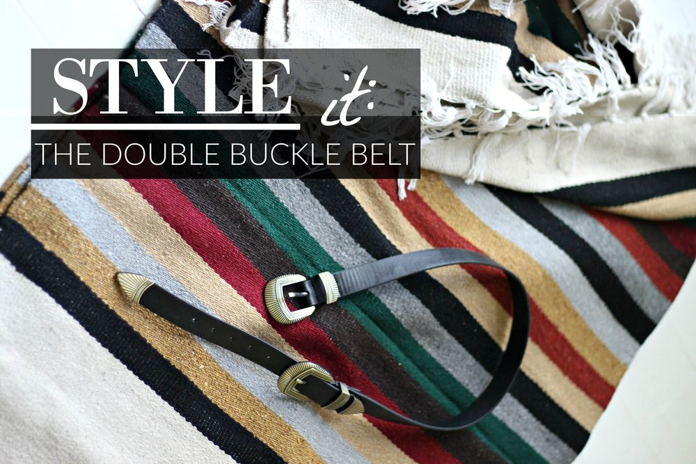 9c25114e2af Vintage-inspired double buckle belts have been popping up all over fashion  blogs and are a favorite accessory of celebrities too.