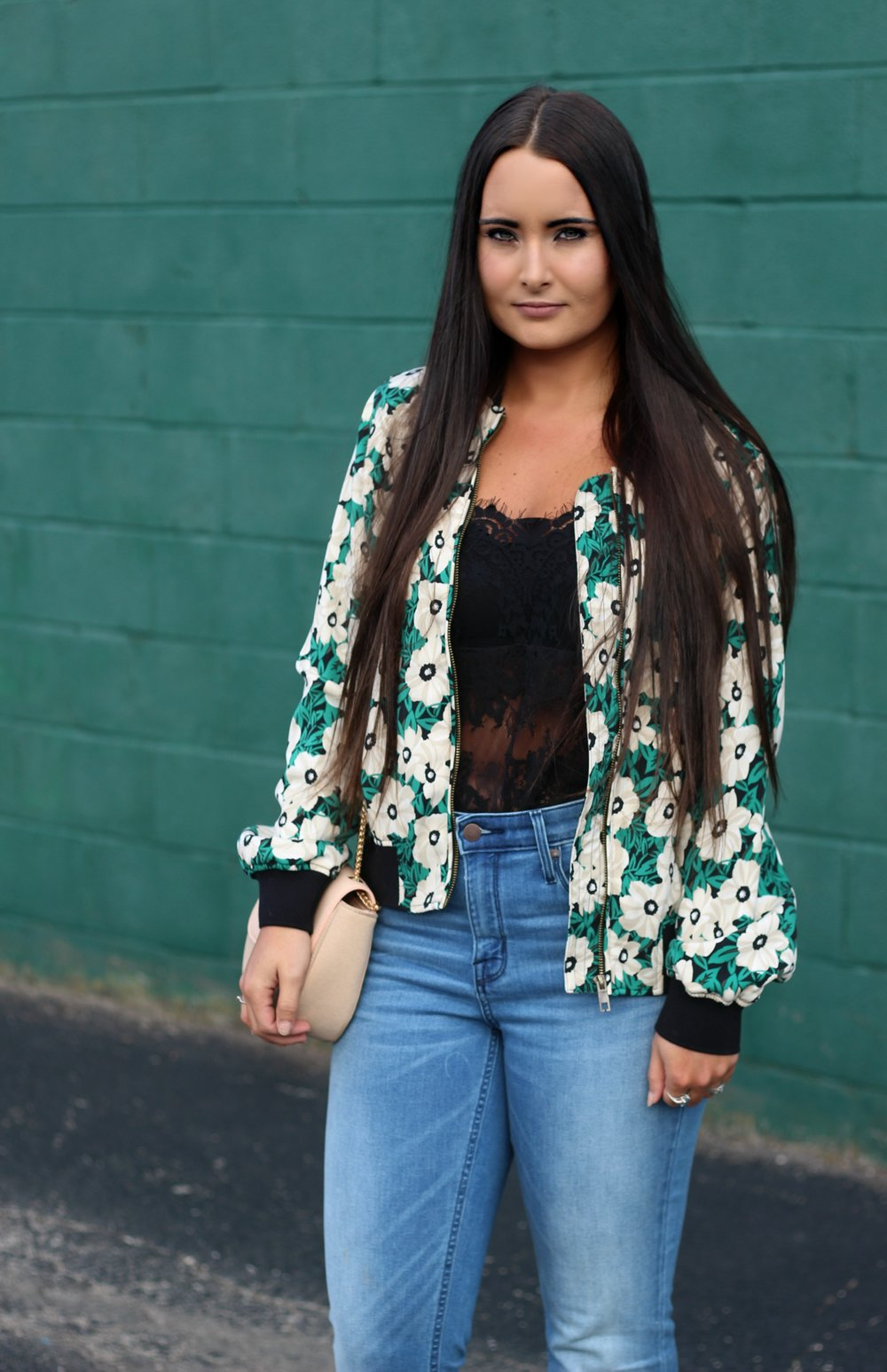 0c20897b8b0 Floral bomber jacket  Who What Wear for Target