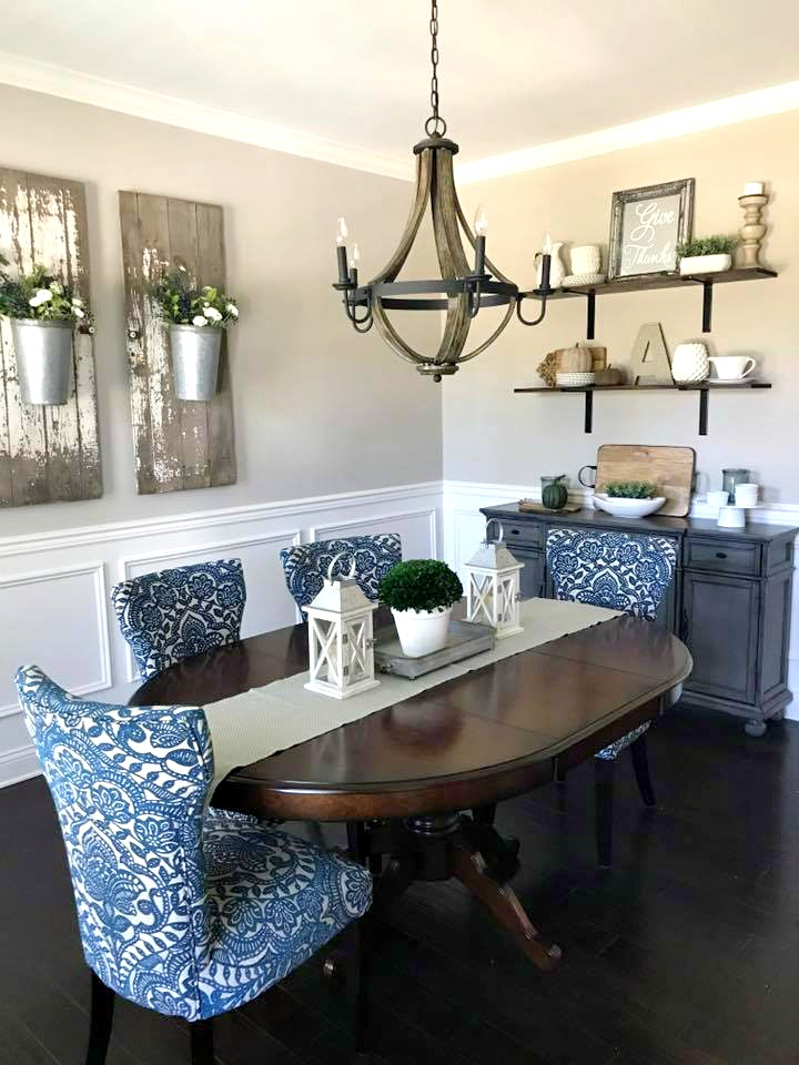 Elegant Farmhouse French Country Dining Room Decor