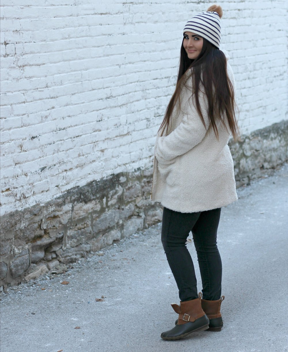 Sherpa Jacket     |      Hat    |     Denim     |     Boots      |     Sweater