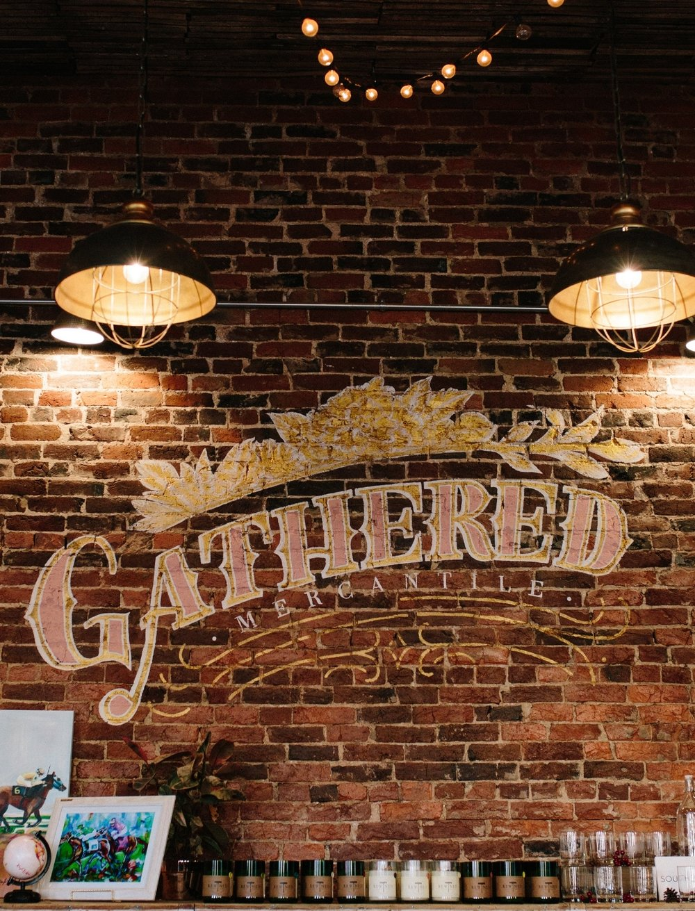 visit our store, Gathered Mercantile - Situated in downtown Versailles, Kentucky, we have collaborated with Kentucky artisans, vendors, and talent to bring you a unique mix of vintage + local goods. Grab a cup of coffee from our adjoining coffee shop, Amsden Coffee Club, and shop with us!