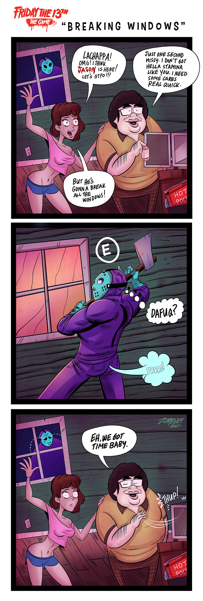 friday the 13th the game web comic the nerdy art of zombgief