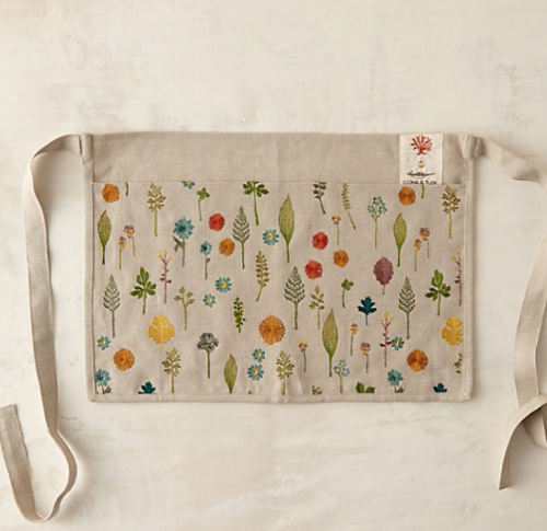 natural linen garden apron from terrain