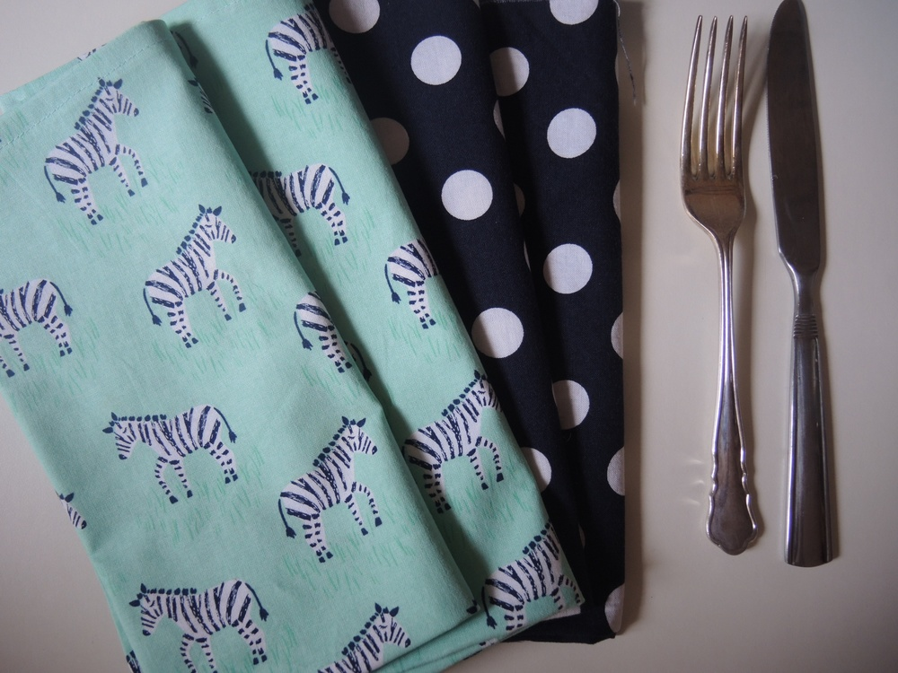 Zebra and Dots Napkin Set