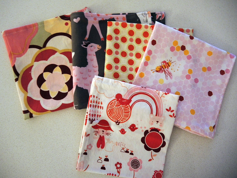 Pink lover napkin pack set of 5.
