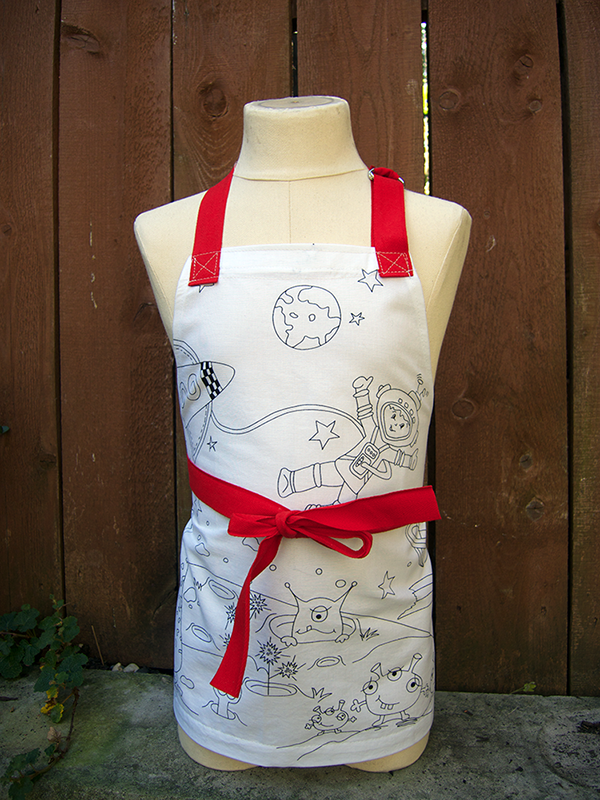 color me apron kids red