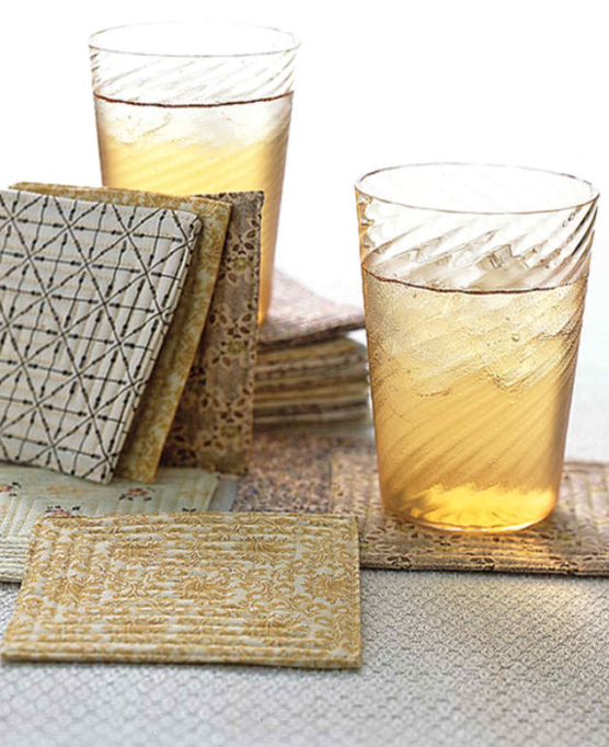from Martha Stewart quilted coasters