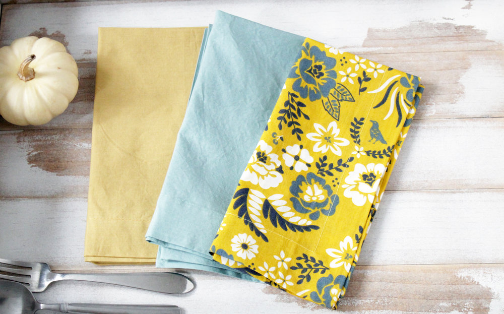 mix and match organic napkins  $40 for a set of 4