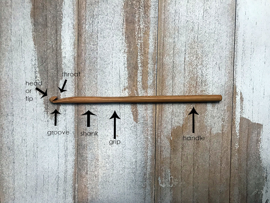 anatomy of a crochet hook