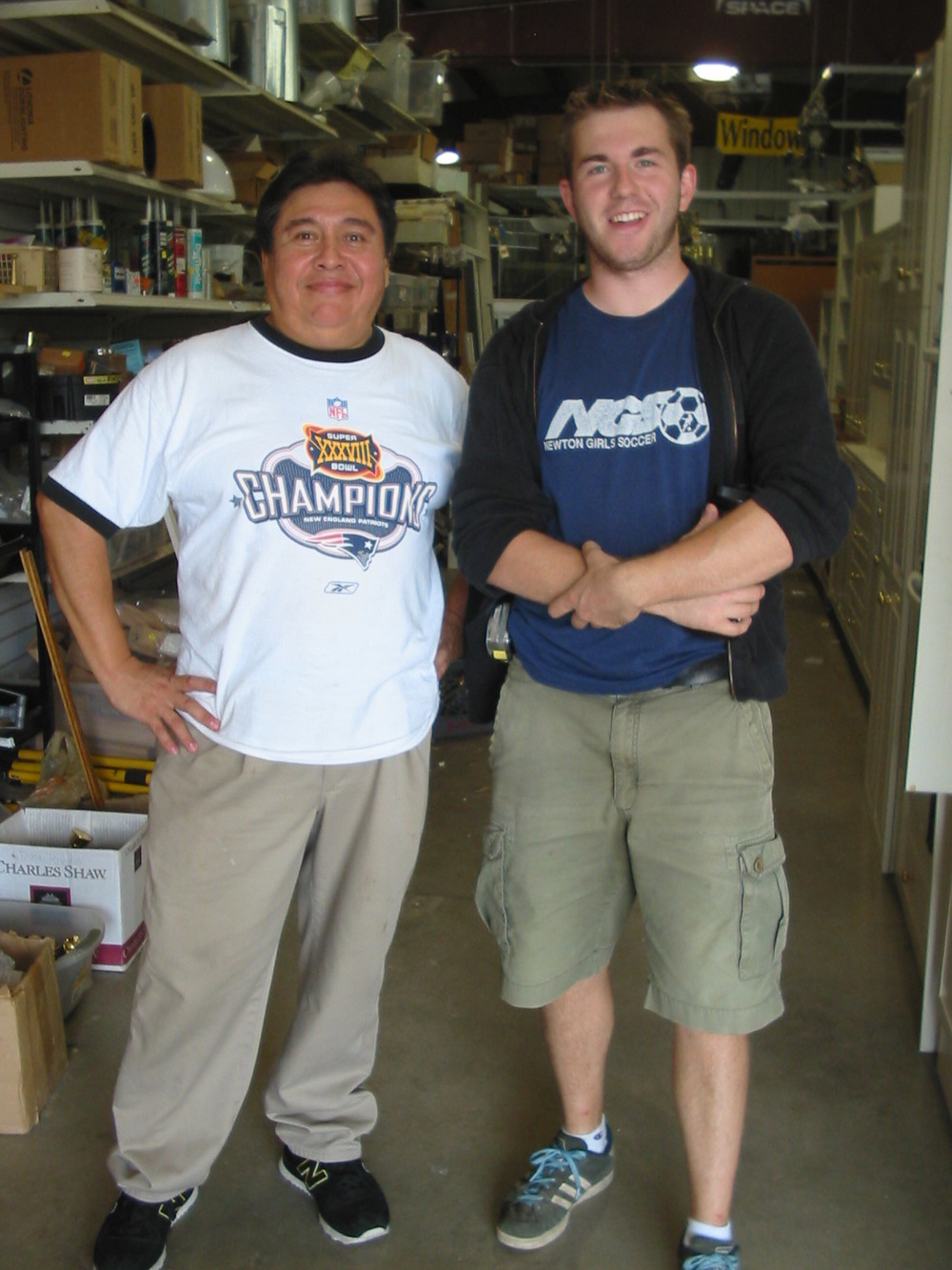 2000s staffers Rafael and Austin
