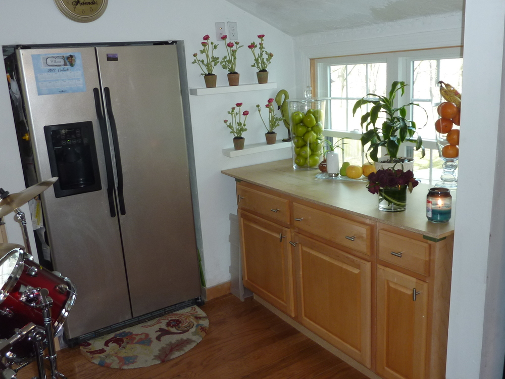 Earl and Ana used these base cabinets in a separate part of the kitchen.