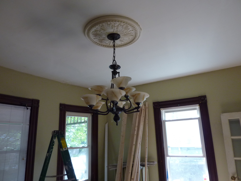 The new chandelier looks great with the ceiling medallion.