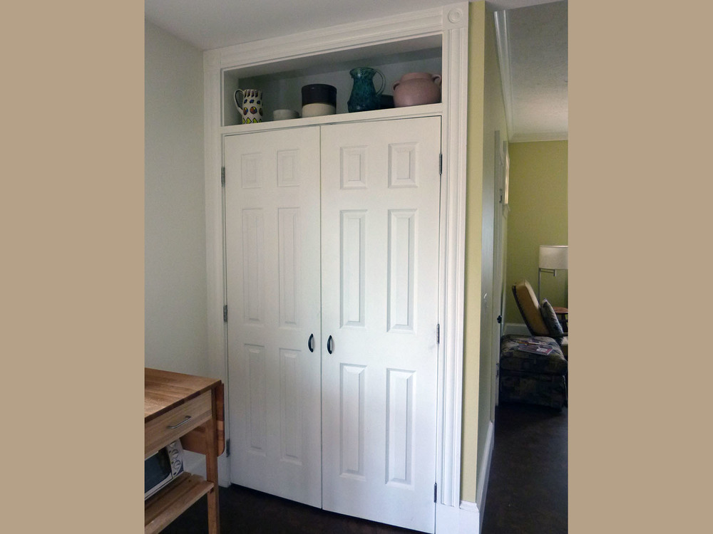 These doors are among her Reuse Center purchases . . .