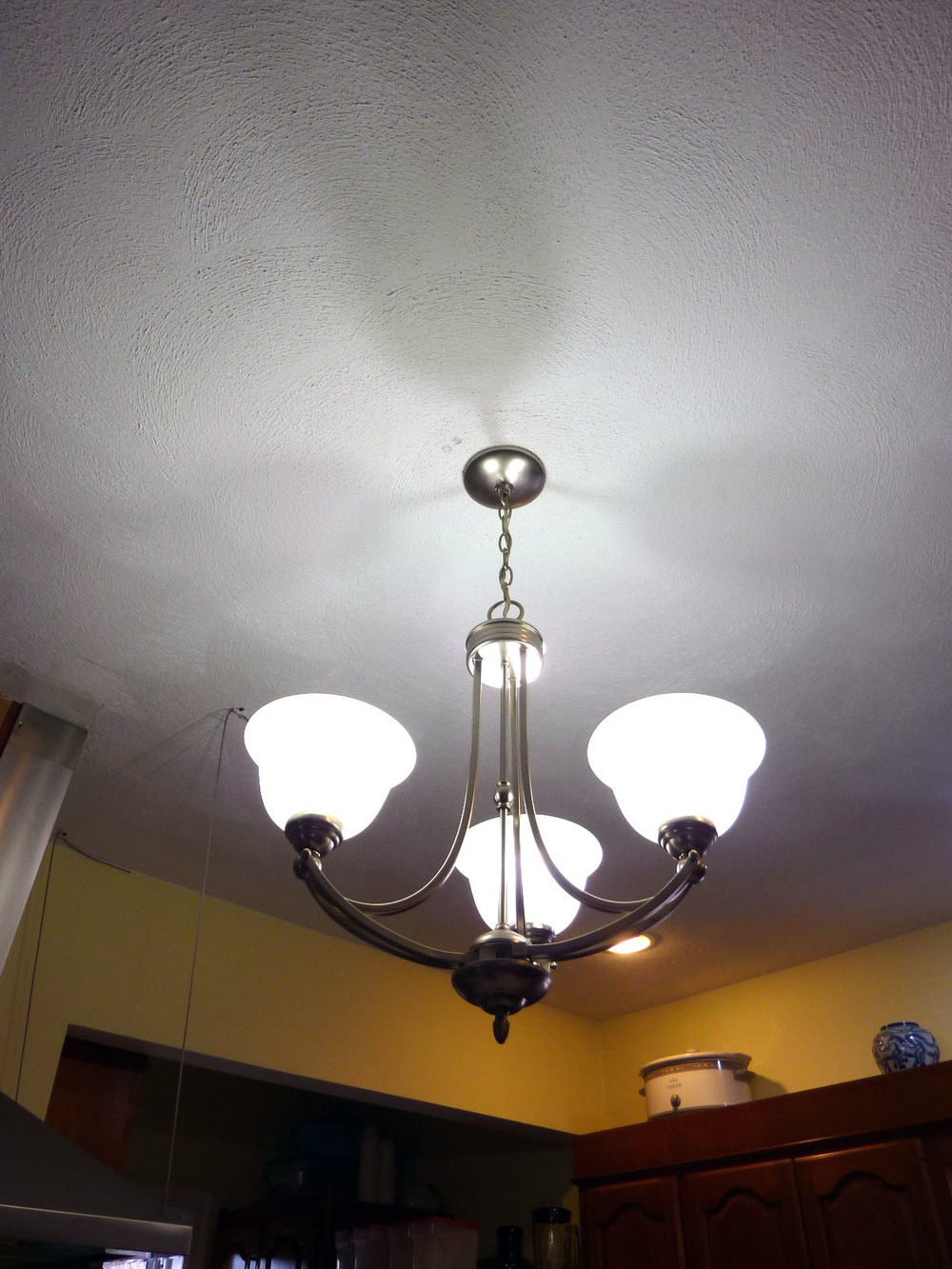 This light fixture also came from the Reuse Center.