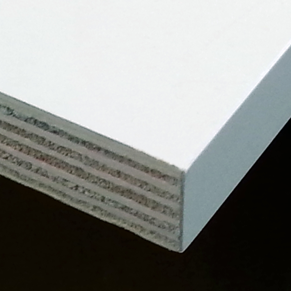 This Plywood Shelf Has Edge Banding On The Front (visible) Edge.