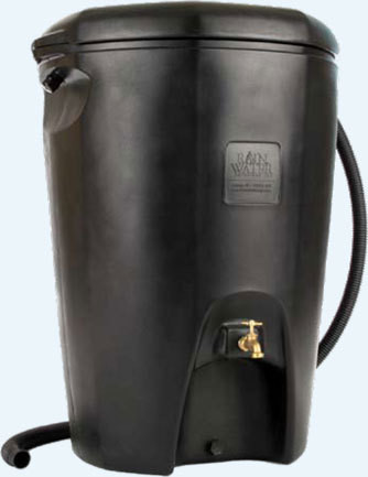 The Moby rain barrel holds 65 gallons.  Public price $172.00 / BBR member price $155.92.  In stock at Boston Building Resources, 100 Terrace Street.  Hours & Directions