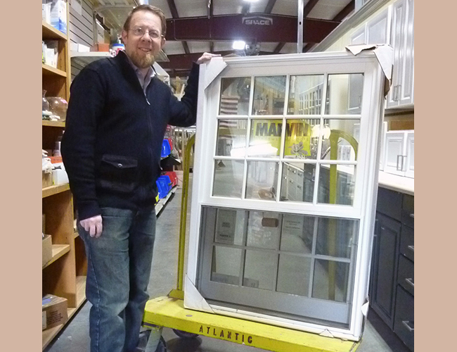 Mike Marotta found this new Marvin window to add to his home looking over his garden and deck.