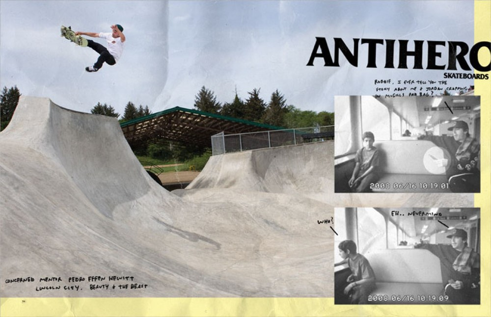 Peter Hewitt, Lincoln City, OR. Anti Hero Ad.