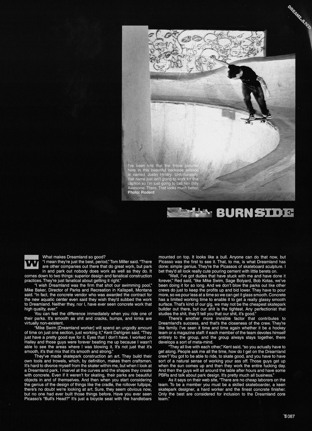Justin Hindry, Burnside. The Skateboard Mag. Photo: Rodent