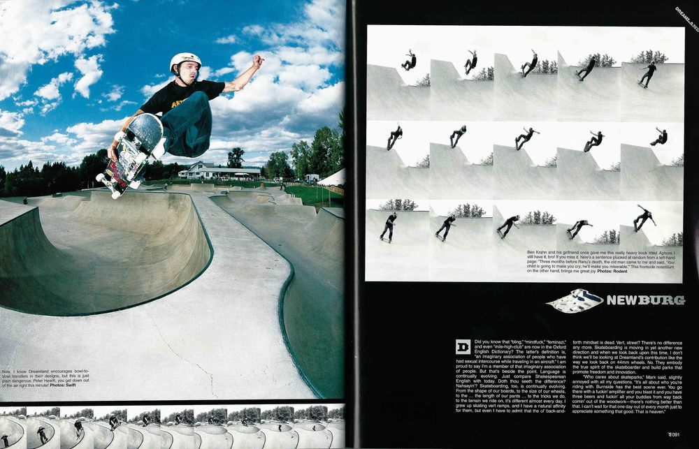Peter Hewitt and Ben Krahn, Newberg, OR. The Skateboard Mag. Photo: Swift (left) Rodent (right)