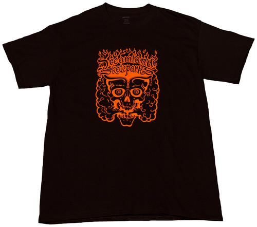 ORANGE PRINT BLACK T-SHIRT — Dreamland Skateparks, LLC.