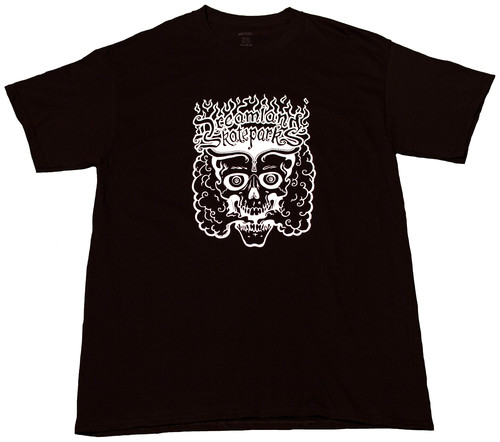 WHITE PRINT BLACK T SHIRT — Dreamland Skateparks, LLC.