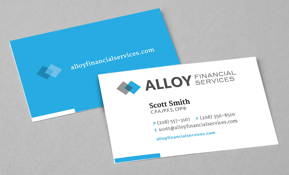 Alloy Financial Business Cards
