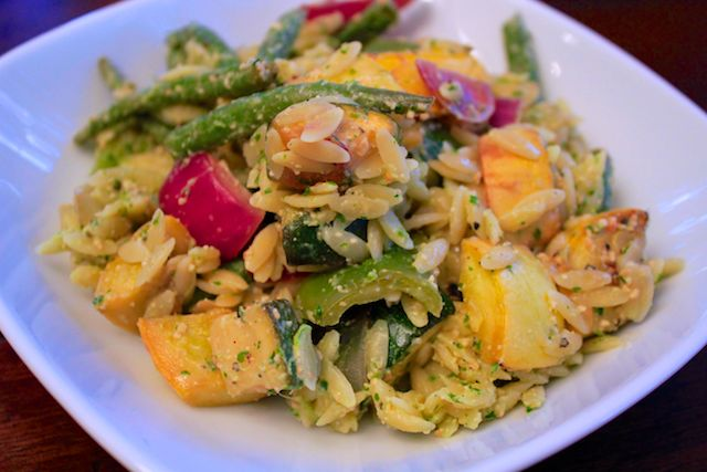 Grilled Veg With Lemon Orzo