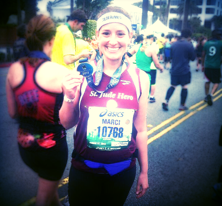 She KILLED her first marathon! Talk about motivation!