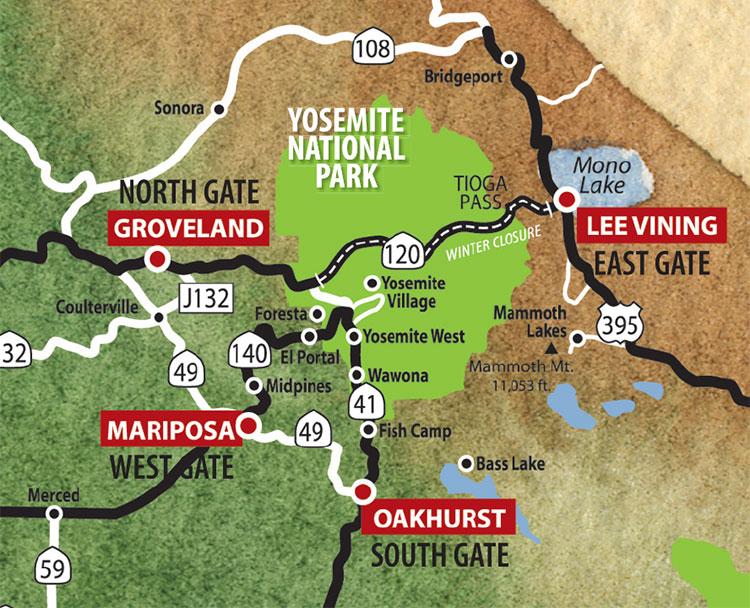 Gateways to Yosemite