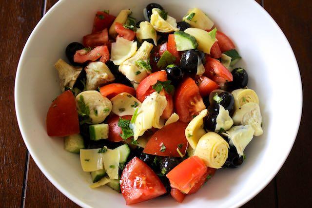Cucumber Artichoke Chopped Salad