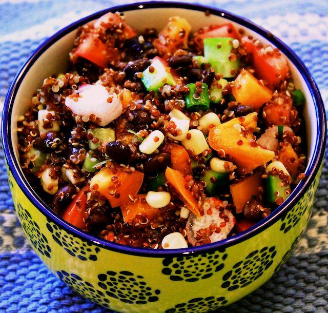 Black Bean Quinoa Mexi Style Salad