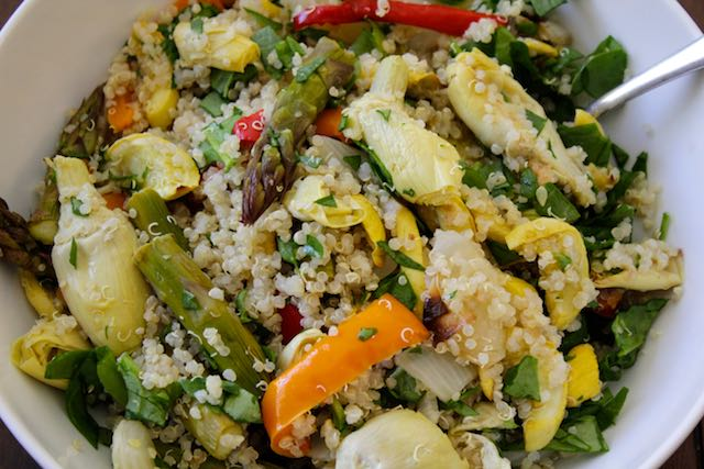 Roasted Veg Salad with Quinoa