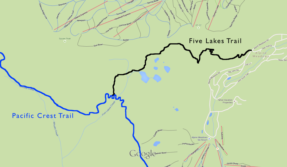 Five Lakes Trail and PCT