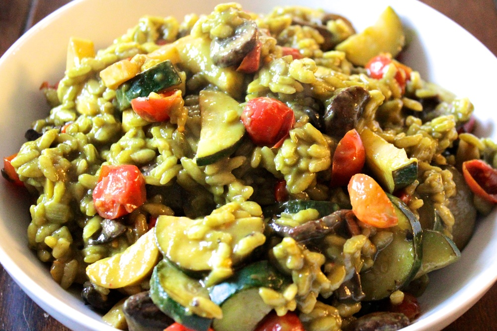 Summer Pesto Risotto