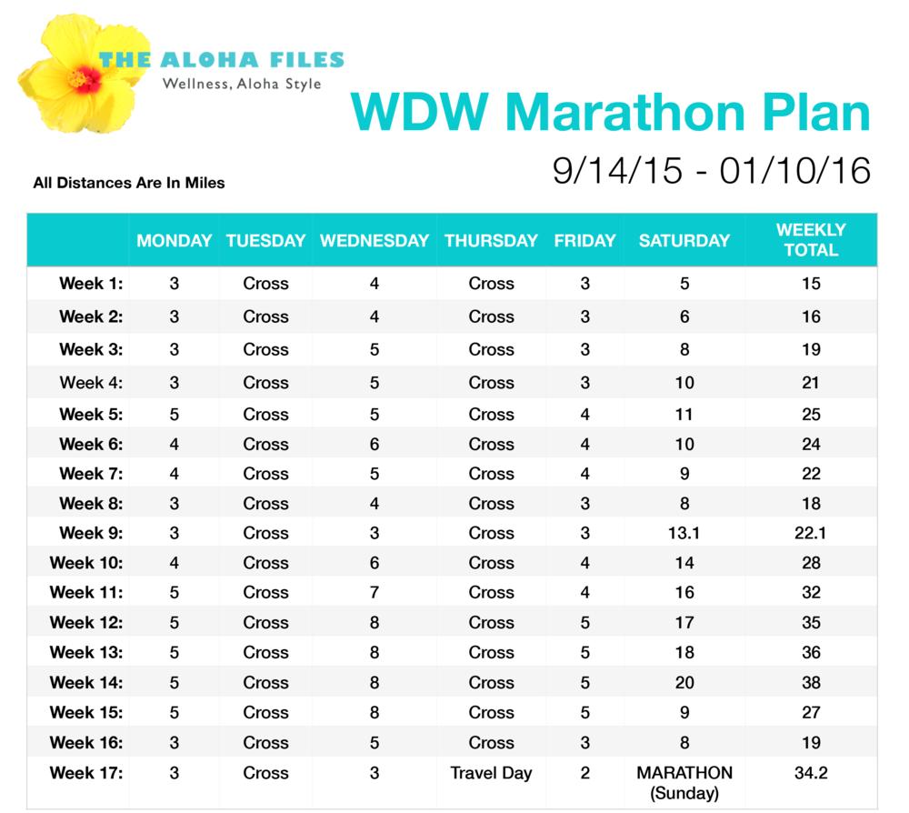 The Aloha Files - WDW Marathon Plan